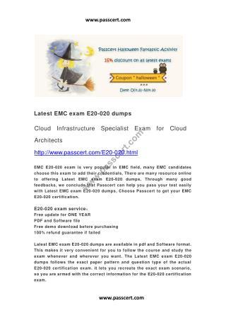 EMC exam E20-020 dumps