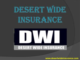 SR22 insurance - Desert Wide Insurance