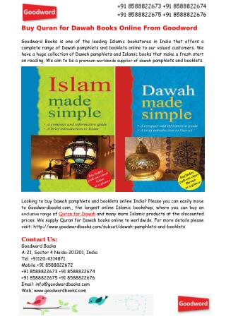 Buy Quran for Dawah Books Online From Goodword
