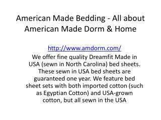 American Made Bedding - All about American Made Dorm & Home