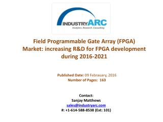 Field Programmable Gate Array (FPGA) Market: dominated by North America with huge market share of revenue