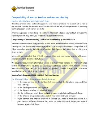 Compatibility Norton Security Toolbar Identity safe