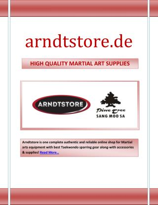 HIGH QUALITY MARTIAL ART SUPPLIES