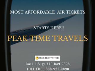 Enjoy Great Airfare Deals at Peak Time Travels!