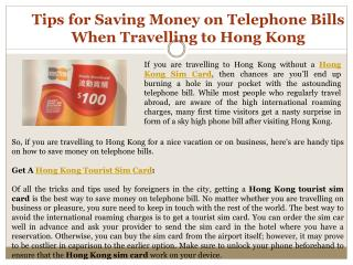 Tips for Saving Money on Telephone Bills When Travelling to Hong Kong