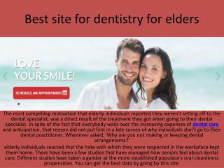 Best site for dentistry for elders