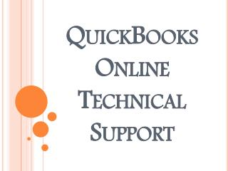 QuickBooks Online Technical Support