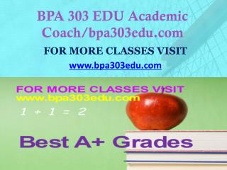 BPA 303 EDU Focus Dreams/bpa303edu.com
