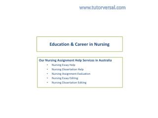 Nursing assignment help by best expert