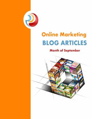 Online Marketing Blog Articles September