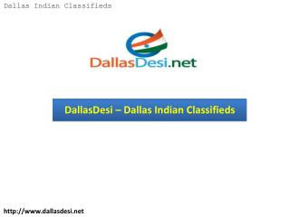 DallasDesi – Dallas Indian Classifieds