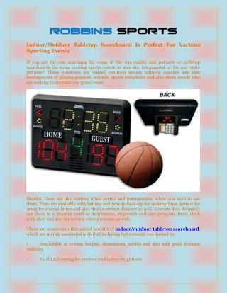 Indoor/Outdoor Tabletop Scoreboard Is Perfect For Various Sporting Events