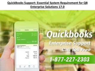 QuickBooks Support: Essential System Requirement for QB Enterprise Solutions 17.0