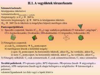II.1. A vegy letek t rszerkezete