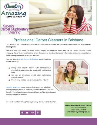 Professional Carpet Cleaners in Brisbane