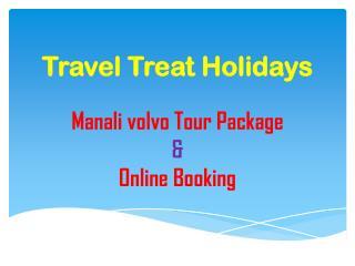 Delhi Manali volvo booking service