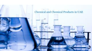 Chemical Products Manufacturing Companies in Dubai