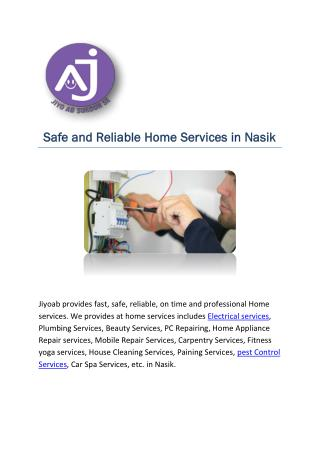 Safe and Reliable Home Services in Nasik