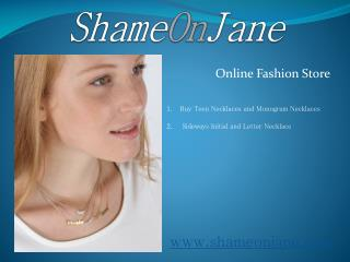 Initial Charms and Personlized Jewelry - ShameOnJane
