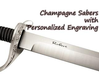 Get Champagne Sabers with Personalized Engraving