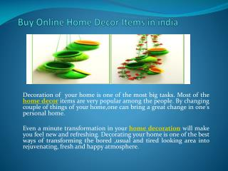 Buy Online Home Decor Items in india