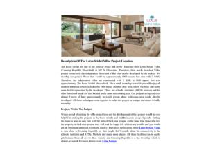 Description Of The Lotus Srishti Villas Project Location