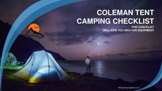 The Mother of All Camping Checklist