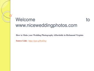 How to Make your Wedding Photography Affordable in Richmond Virginia