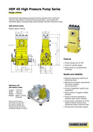 High Pressure Pump 40