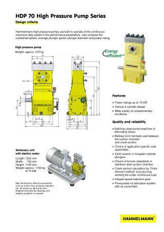 High Pressure Pump 70