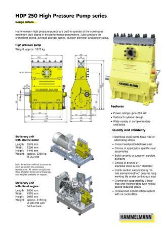 High Pressure Pump 250
