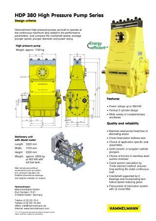 High Pressure Pump 380