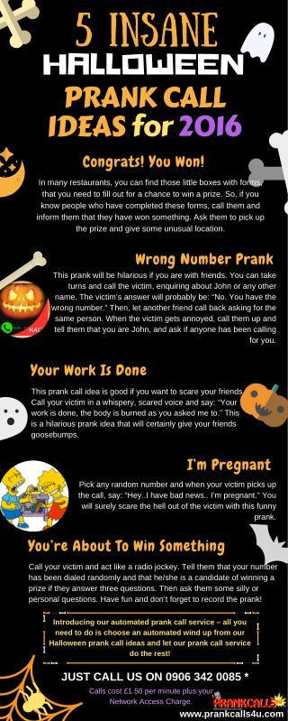 Prank Calls 4 U - Hilarious Halloween Prank Call Ideas