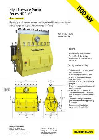 High Pressure Pump 1100