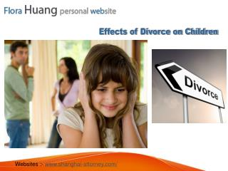 Common Effects of Divorce on Children in China