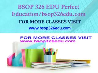 BSOP 326 EDU Focus Dreams/bsop326edu.com