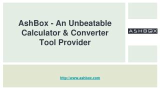 AshBox - An Unbeatable Calculator & Converter Tool Provider