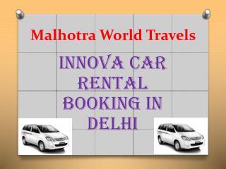 Innova car Rental Delhi