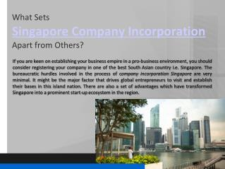 What Sets Company Incorporation Singapore Apart from Others