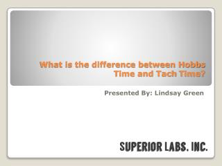 Hobbs Time Versus Tach Time: How They Are Different?