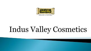 Indus valley Organic beauty Products