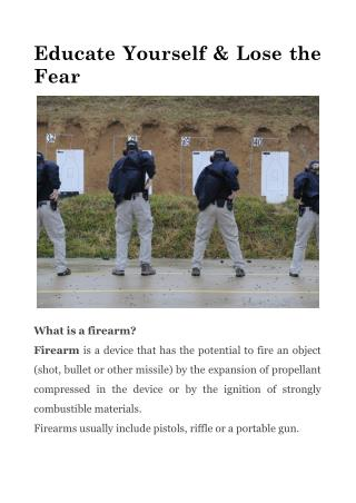 Educate Yourself & Lose the Fear
