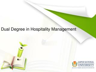 Dual Degree in Hospitality Management