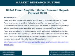 Global Power Amplifier Market Research Report- Forecast 2022
