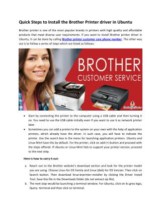 Quick Steps To Install the Brother Printer driver in Ubuntu