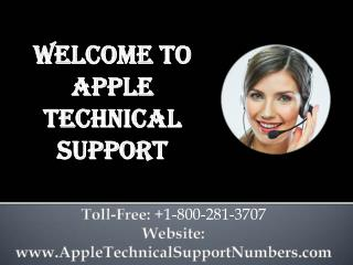 Apple Technical Support Phone Number  1-800-281-3707