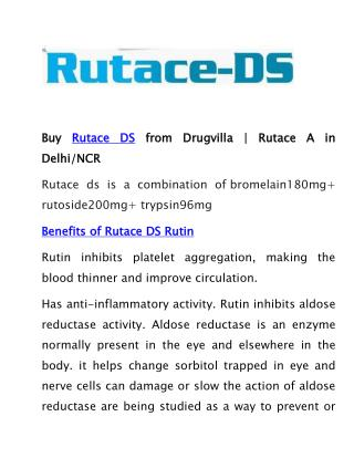 Buy Rutace DS from Drugvilla | Rutace A in Delhi/NCR