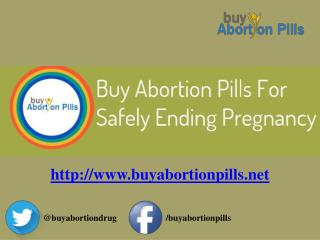 Buy Abortion Pills for Safely Ending Pregnancy