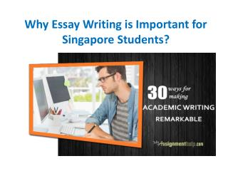 Custom Essay Help Service in Singapore From MyAssignmenthelp.com Experts