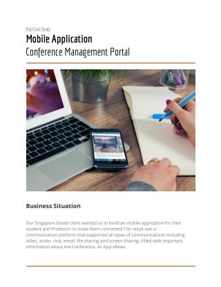 mobile application development : Conference Management Portal